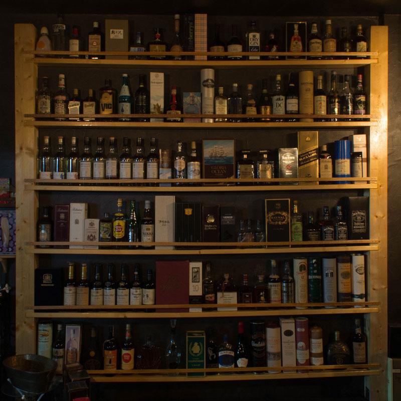 ウィスキーやブランデーが沢山あります。
